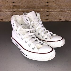 Converse White High Top Sneakers Sz 6